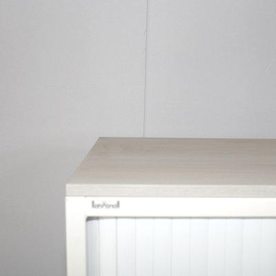 Ahrend Roldeurkast Wit Licht Eiken 145 x 120 x 45
