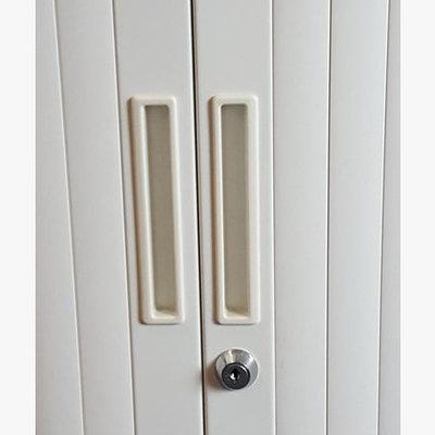 Roldeurkast Wit H160xB120xD43 B-Keus