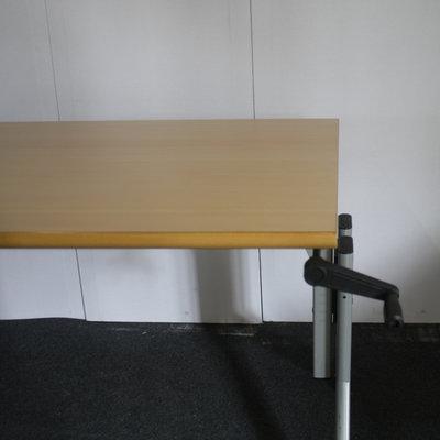 Kembo Slingerbureau Lichtgrijs Beuken 160 x 80