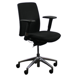 Bureaustoel Zwart Chroom