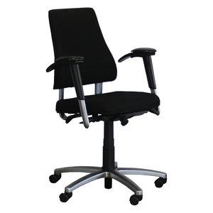 BMA Axia Bureaustoel Zwart Hoge Rug Gepolijst Aluminium 3D