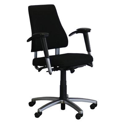 BMA Axia Bureaustoel Zwart Hoge Rug Gepolijst Aluminium 3D Armleuning