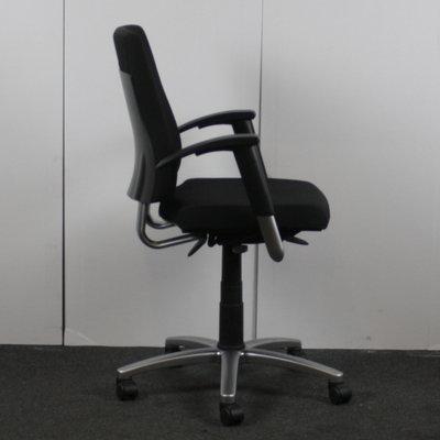 BMA Axia Bureaustoel Zwart Gepolijst Aluminium 2D Armleuning