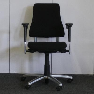 BMA Axia Bureaustoel Zwart Nieuw Gestoffeerd Hoge Rug 3D Armleuning