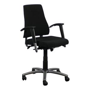 BMA Axia Bureaustoel Nieuw Gestoffeerd Zwart Gepolijst Aluminium 2D