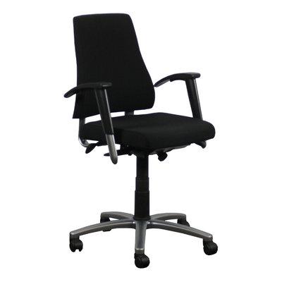 BMA Axia Bureaustoel Nieuw Gestoffeerd Zwart Gepolijst Aluminium 2D Armleuning