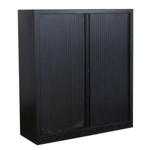 Markant Roldeurkast Zwart Zwart 135 x 120 x 42