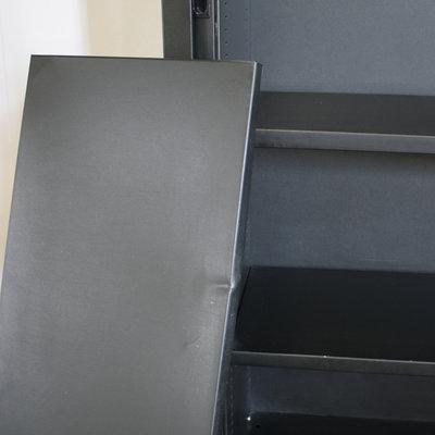 Roldeurkast Zwart Zwart 198 x 120 x 43 B-Keus