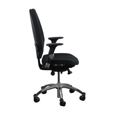 RH Extend 120 Large Bureaustoel Zwart Lichtgrijs