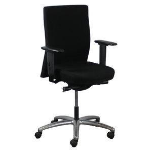 Interstuhl 3494 Bureaustoel Zwart Gepolijst Aluminium