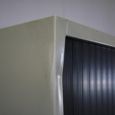 Ahrend Roldeurkast Lichtgrijs Zwart 195 x 120 x 45 B-Keus