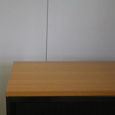 Ahrend Roldeurkast Zwart Zwart Beuken 75 x 80 x 45