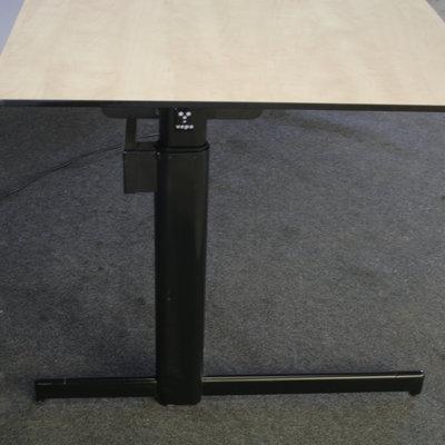 Vepa Elektrisch Zit Sta Bureau Trespa Zwart Ahorn B180xD80