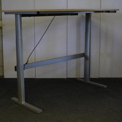 Rohde & Grahl Elektrisch Zit Sta Bureau Zilvergrijs Ahorn B160xD80