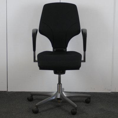 Giroflex 64 Bureaustoel Zwart Antraciet Smal Arm Nieuwe Stof
