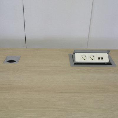 Vepa Elektrisch Zit Sta Bureau Wit Licht Eiken 160 x 80