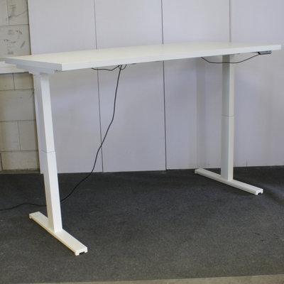Elektrisch Zit Sta Bureau Wit Wit B180xD90 Extra Dik Blad