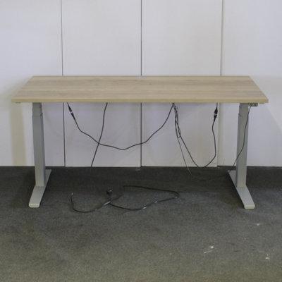 Markant Elektrisch Zit Sta Bureau Zilvergrijs Natuur Eiken 160 x 80