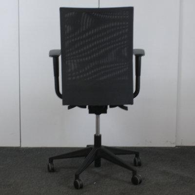 MN Venus Bureaustoel Zwart Zwart Netweave
