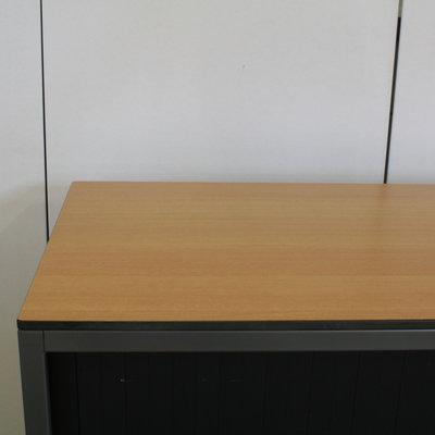 Ahrend Roldeurkast Antraciet Zwart Beuken 74 x 120 x 45