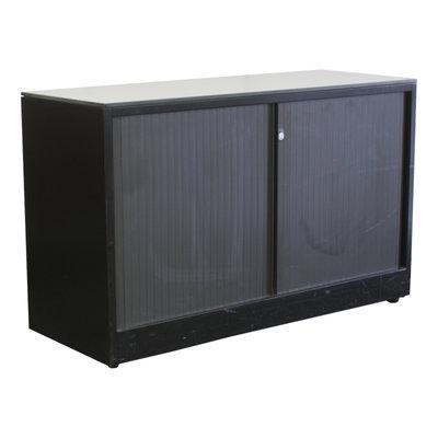 Ahrend Roldeurkast Zwart Zwart Lichtgrijs 75 x 120 x 45 B-Keus