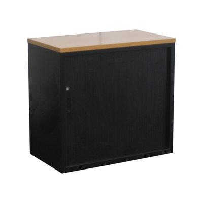 Roldeurkast Zwart Zwart Peren 74 x 80 x 45