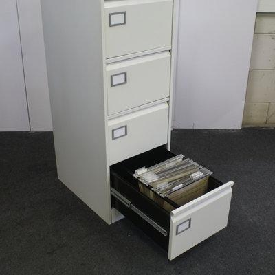 Silverline Ladenkast Lichtgrijs 4 Laden 132 x 46 x 62