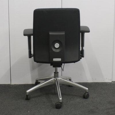 MN Milano Bureaustoel Zwart Chroom
