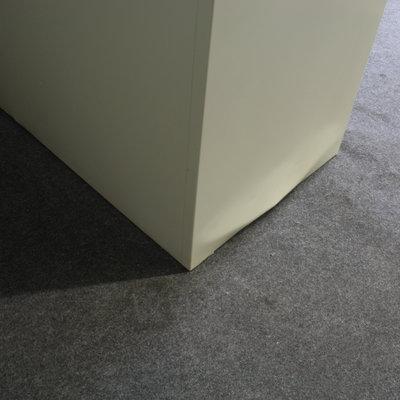 Ahrend Roldeurkast Lichtgrijs Zwart 195 x 120 x 45 B-Keus - 3 Legborden