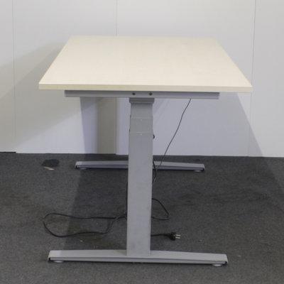 Elektrisch Bureau Lichtgrijs Ahorn B160 x D80