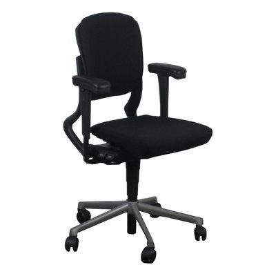 Ahrend 230 Bureaustoel Lage Rug Zwart Grijs Nieuwe Stoffering