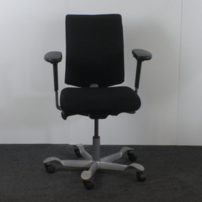 HAG H05 Bureaustoel Zwart Lichtgrijs Brede Arm