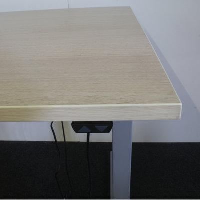 Elektrisch Zit Sta Bureau Licht Eiken Grijs 180 x 80