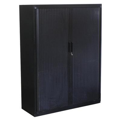 Steelcase Roldeurkast Zwart Zwart 160 x 120 x 45