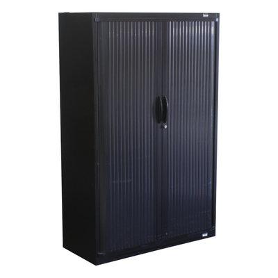 Steelcase Roldeurkast Zwart Zwart 160 x 100 x 45