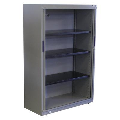 Steelcase Roldeurkast Zilvergrijs Zilvergrijs 150 x 100 x 45