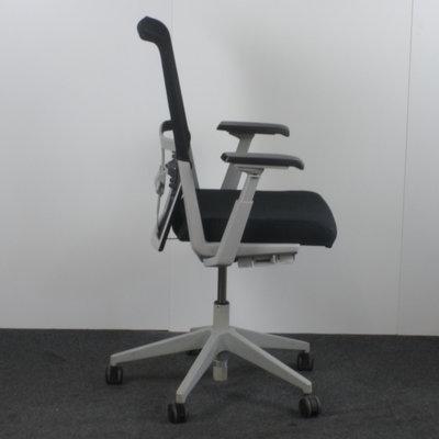 Comforto D5965 Bureaustoel Zwart Lichtgrijs Netweave Nieuwe Stoffering
