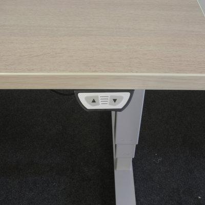 Ultrajust Elektrisch Zit Sta Bureau Licht Eiken Grijs 180 x 80