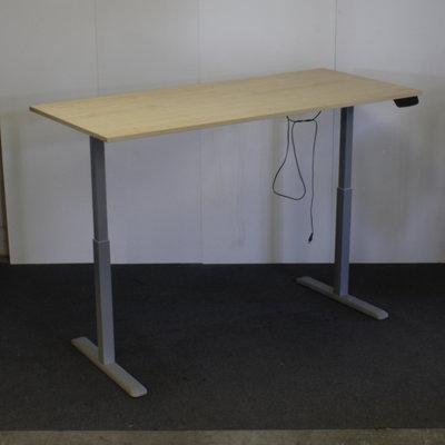 Elektrisch Zit Sta Bureau Ahorn Grijs 180 x 80