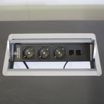 Elektrisch Zit Sta Bureau Antraciet Zilvergrijs 160 x 80 B-Keus