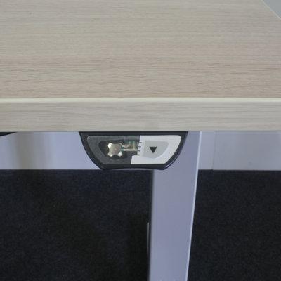 Ultrajust Elektrisch Zit Sta Bureau Licht Eiken Grijs 180 x 80  B-Keus