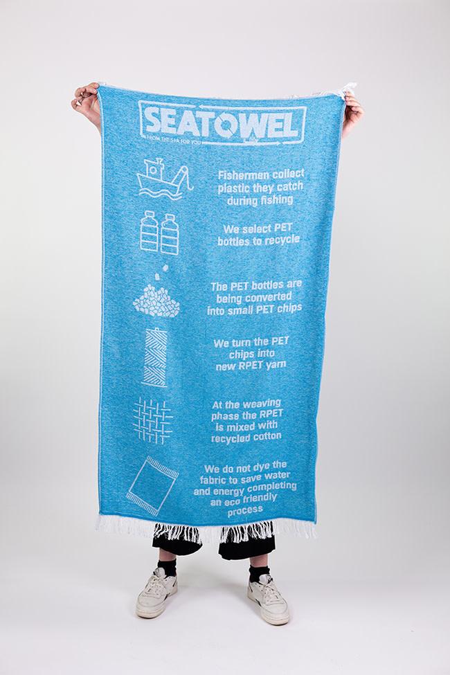 Seatowel Seatowel Badhanddoek, Blauw, 70 x 140 cm