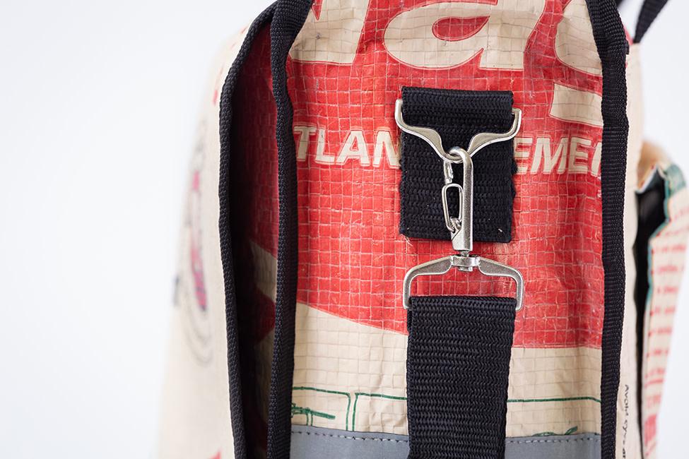 Fair Trade Fiets- en Schoudertas, Gerecycleerd Materiaal