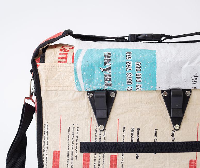 Fair Trade Fietszakken, Gerecycleerd Materiaal