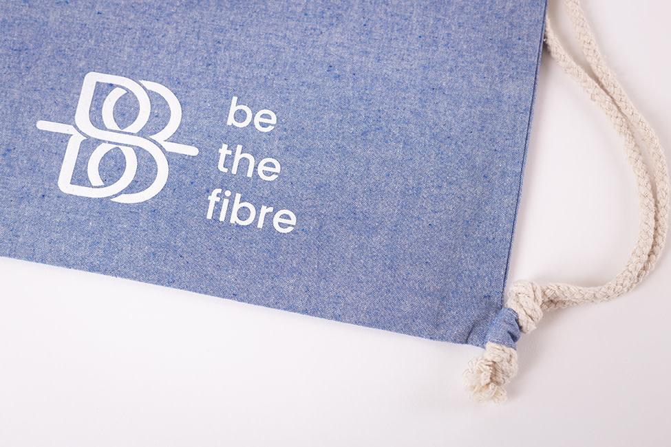 be the fibre be the fibre, Rugzakje met trekkoordje