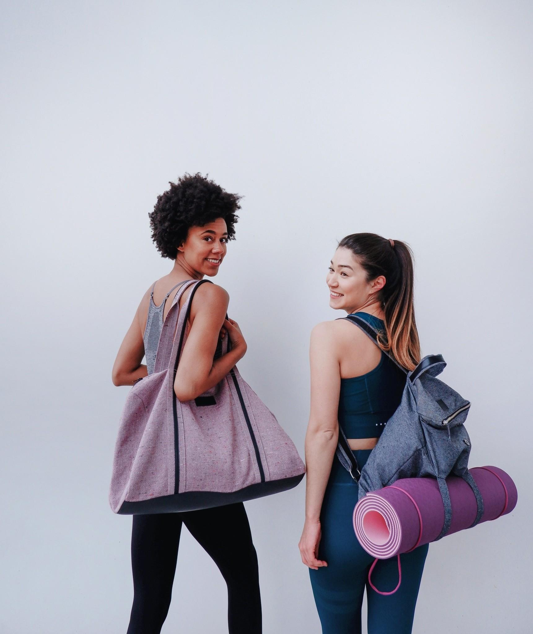 be the fibre Max Bag - Weekend/Sport Tas - Herringbone Rood