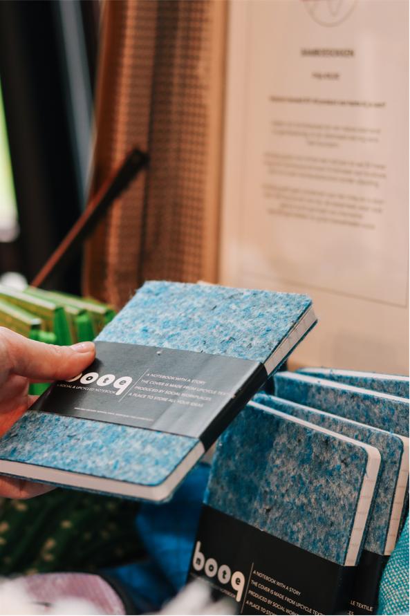 Interall Notebooq (notitieboekje met kaft van upcycled textiel)
