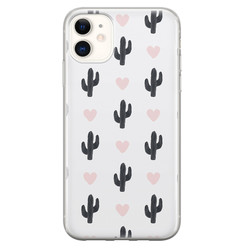 Leuke Telefoonhoesjes iPhone 11 siliconen hoesje - Cactus love