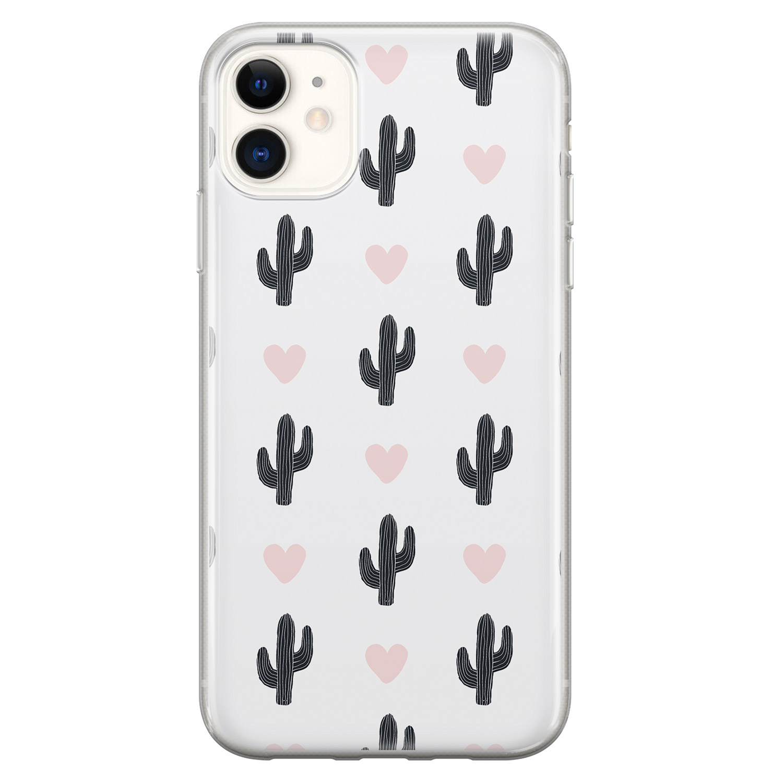 iPhone 11 siliconen hoesje - Cactus love