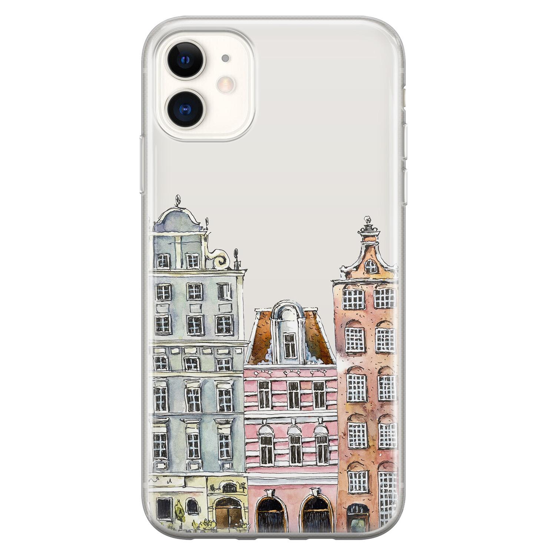 Leuke Telefoonhoesjes iPhone 11 siliconen hoesje - Grachtenpandjes